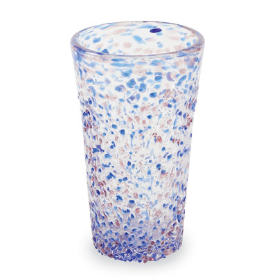 Southbank's Blue Confetti Drinking Glass