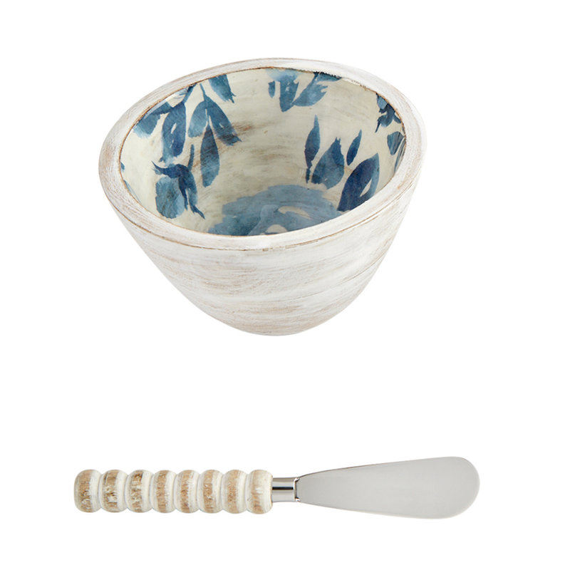 Southbank's Blue Floral Bouquet Dip Bowl