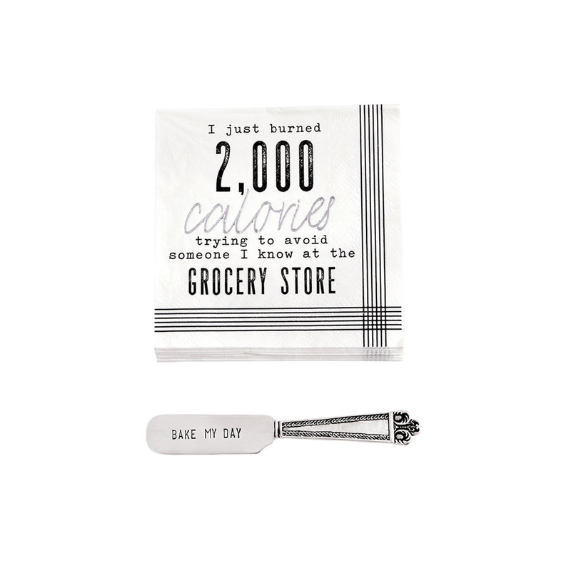 Southbank's Calories Napkin with Spreader Set