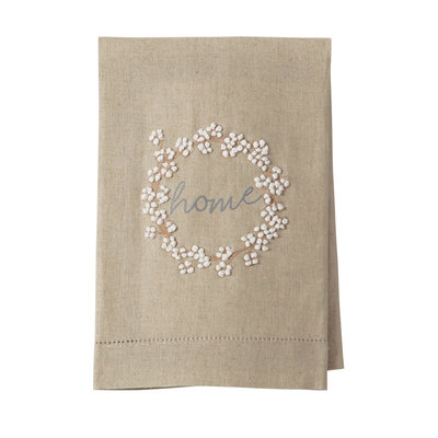 Southbank's Wreath Cotton French Knot Towel