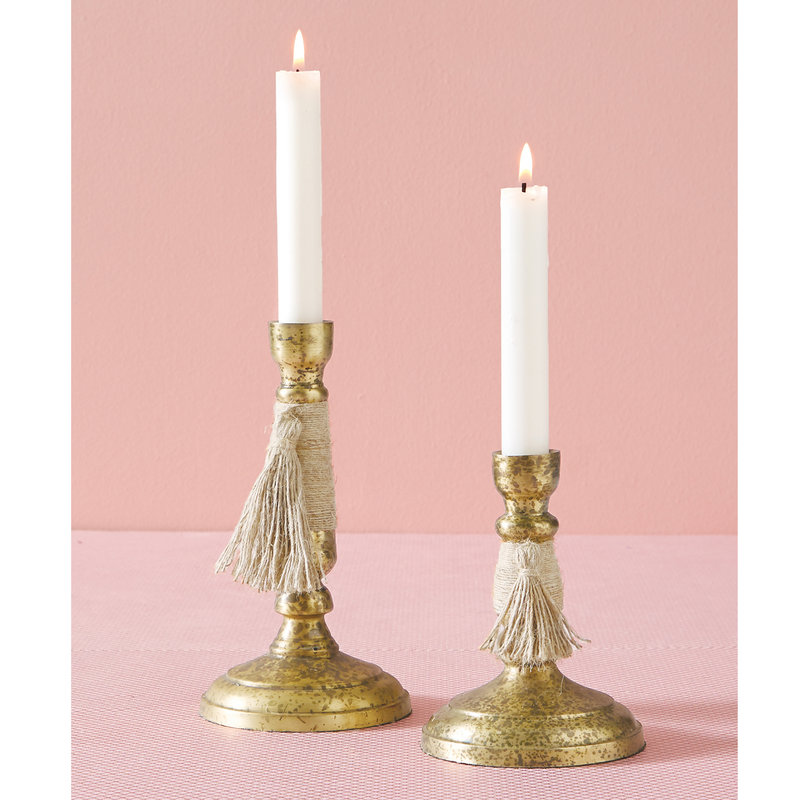Southbank's Brass Taper Holder with Tassel