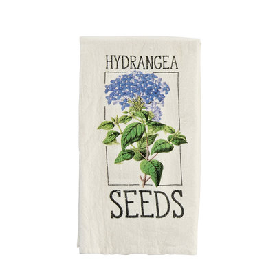Southbank's Hydrangea Seed Packet Fingertip Towel