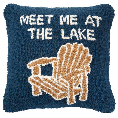 Southbank's Lake Hooked Wool Pillow