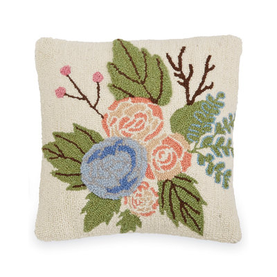 Southbank's Square Floral Hook Wool Pillow