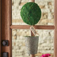 Southbank's Metal Basket Topiary Door Decor