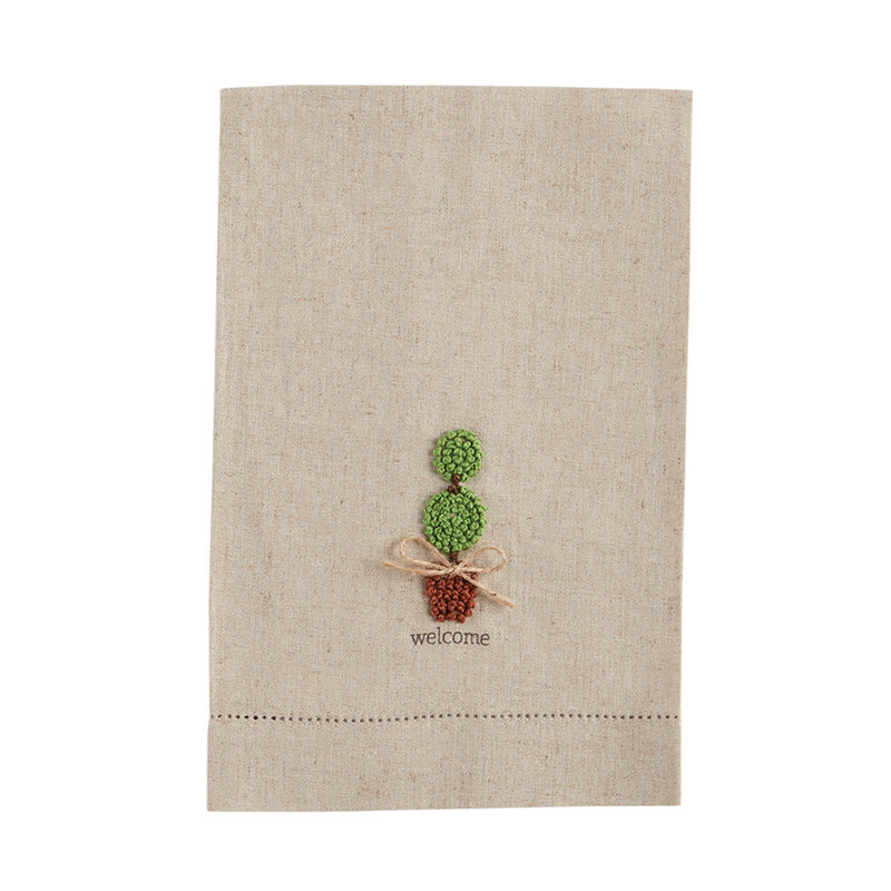 Southbank's Welcome Topiary French Knot Towel