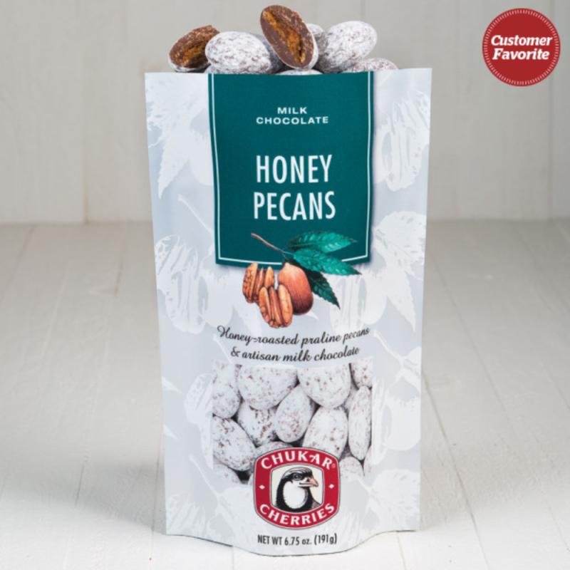 Chukar Cherries Milk Chocolate Honey Pecans in a Bag