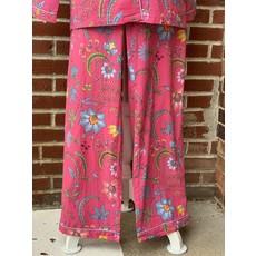 Southbank's Natalie Pink Floral Pajama Long Sleeve Set