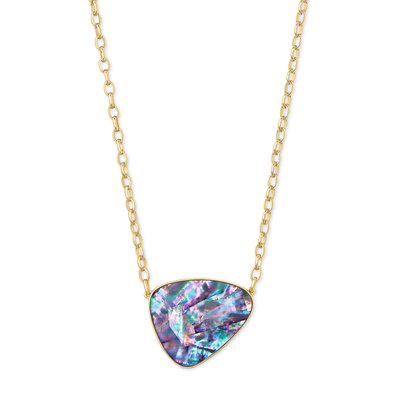 Kendra Scott Mckenna Gold Pendant Necklace In Lilac Abalone