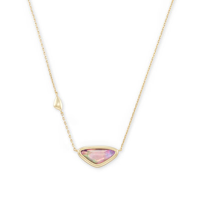 Kendra Scott Margot Gold Pendant Necklace In Lilac Abalone