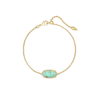 Kendra Scott Elaina Gold Single Slide Bracelet In Sea Green Chrysocolla