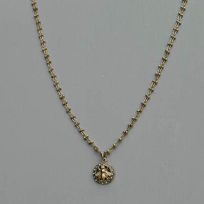 *Celeste Filigree Bee Necklace