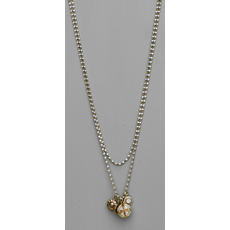 *Constance Long Stone Charm Necklace