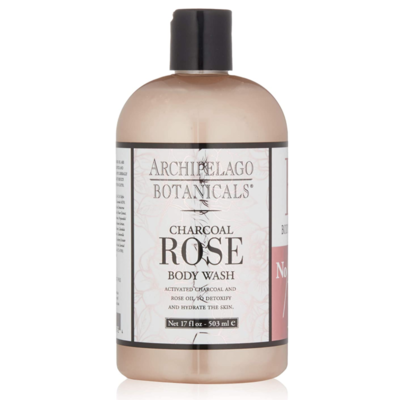 Archipelago Botanicals Charcoal Rose 17 oz. Body Wash