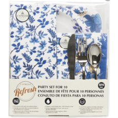 Southbank's Blue Floral Toile Party of 10 Dining Set