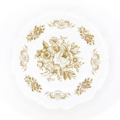 Southbank's Brown Toile Melamine Plate