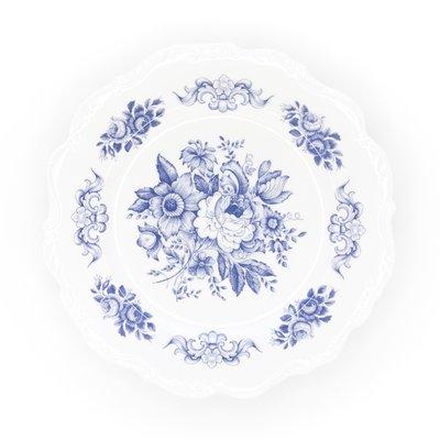 Southbank's Blue Toile Melamine Plate