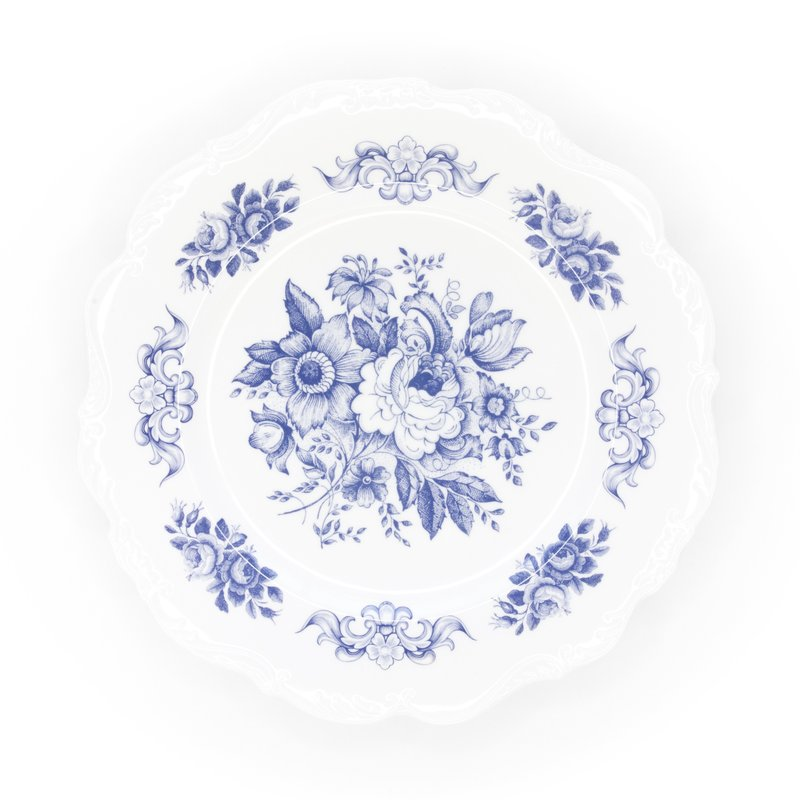 Southbank's Blue Toile Melamine Plate