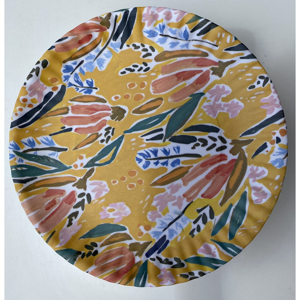 Southbank's Yellow Floral Melamine Plate