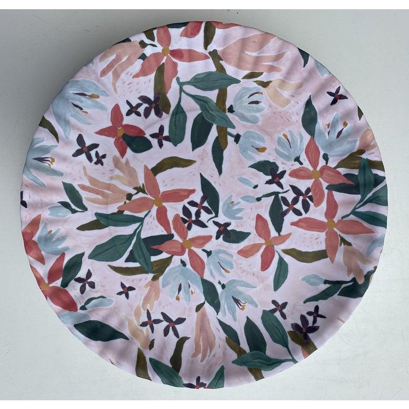 Southbank's Pink Floral Melamine Plate