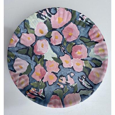 Southbank's Blue Floral Melamine Plate