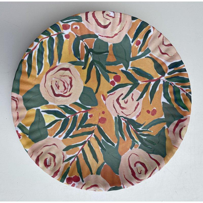 Southbank's Orange Floral Melamine Plate