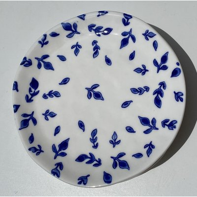 Southbank's Blue & White Leaf Plate