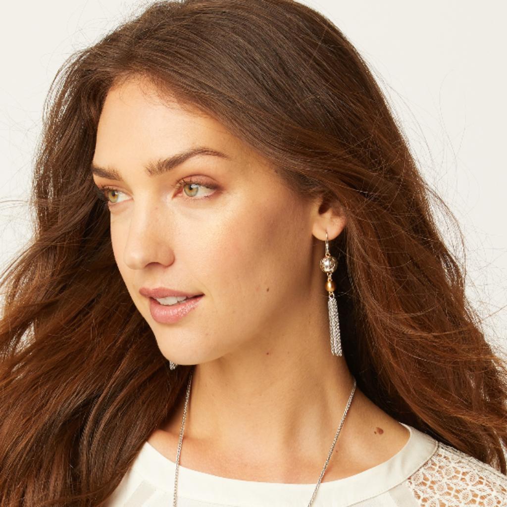 Elora Luxe Tassel French Wire Earrings