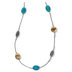 Mediterranean Turquoise Long Necklace