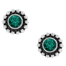 Emerald Twinkle Mini Post Earrings