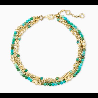 Kendra Scott Scarlet Delicate Bracelet Gold Turquoise