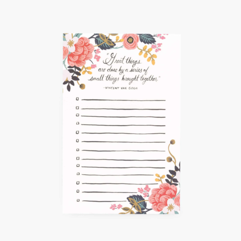 Rifle Paper Co. Great Things Checklist Notepad