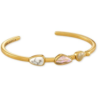 Kendra Scott Ivy Cuff Bracelet Vintage Gold White Mix