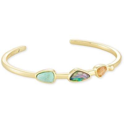 Kendra Scott Ivy Cuff Bracelet Gold Sea Green Mix*
