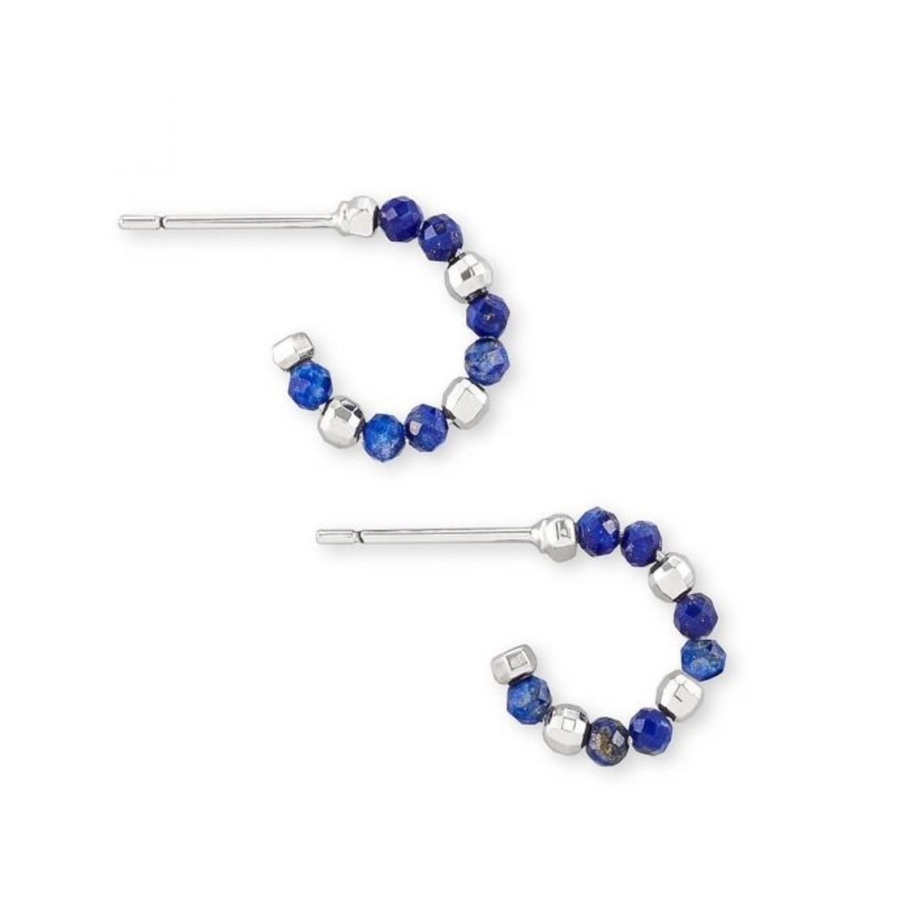 Kendra Scott Scarlet Huggie Earring Rhodium Blue Lapis