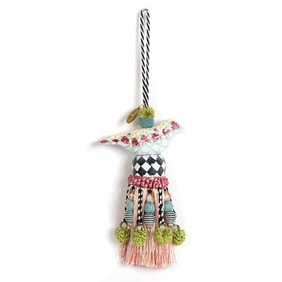 MacKenzie-Childs Ceramic Bird Tassel - Rose