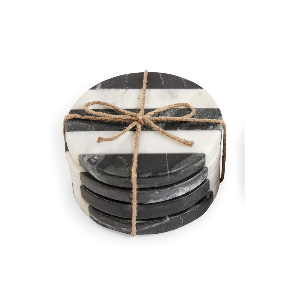 Southbank's Black & White Stripe Coasters