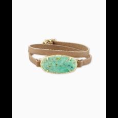 Kendra Scott Elle Sand Wrap Bracelet in Sea Green