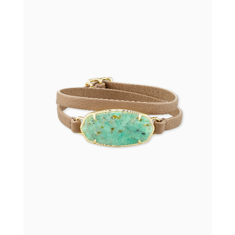 Kendra Scott Elle Sand Wrap Bracelet in Sea Green