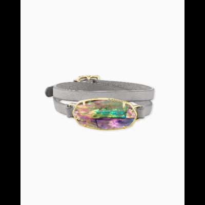 Kendra Scott Elle Gold Wrap Bracelet in Lilac Abalone