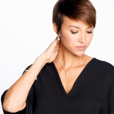 Meridian Petite Pearl Leverback Earrings