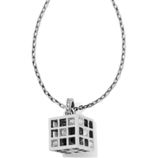Bonjour Cube Pendant Necklace