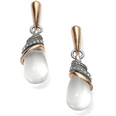 Neptune's Rings Crystal Teardrop Earrings