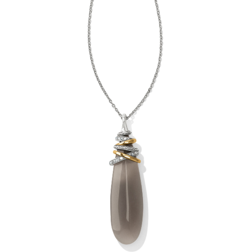 Neptune's Rings Pyramid Banded Agate Necklace