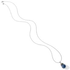 Neptune's Rings Brazil Blue Quartz Pendant Necklace