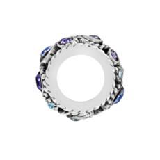 Silver-Tanzanite Halo Spacer