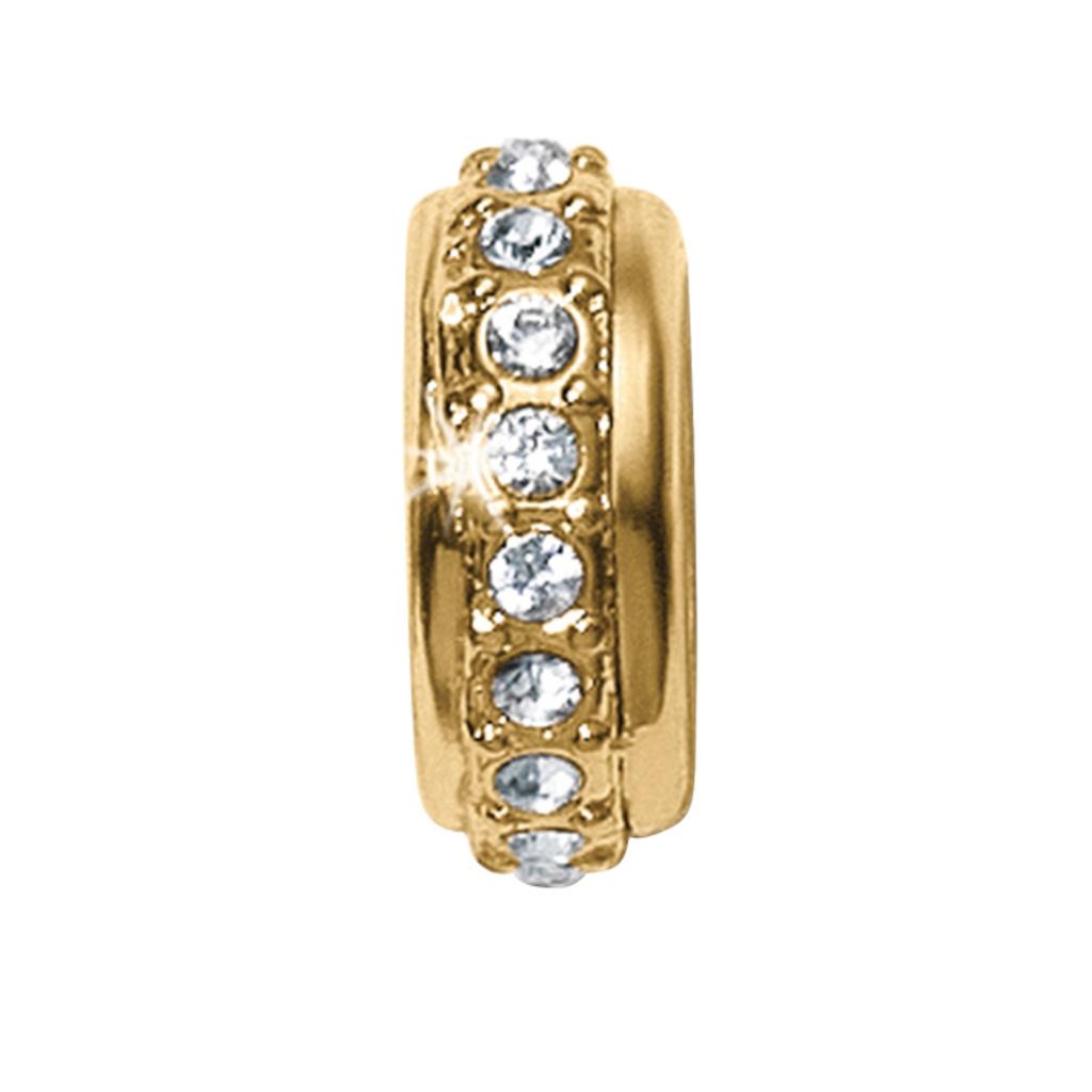 Gold Stardust Stopper Bead
