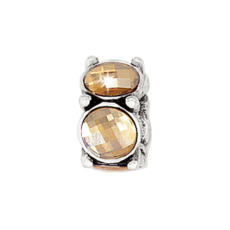 Gold-Silver Roundabout Bead