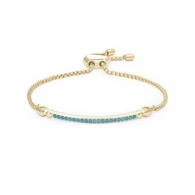 Kendra Scott Ott Gold Adjustable Chain Bracelet In Turquoise