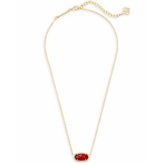 Kendra Scott Elisa Pendant Necklace In Ruby Red